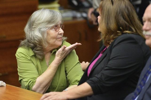 À l'annonce de l'annulation de sa condamnation, Susan... (PHOTO BRAD GRAVERSON, AP)