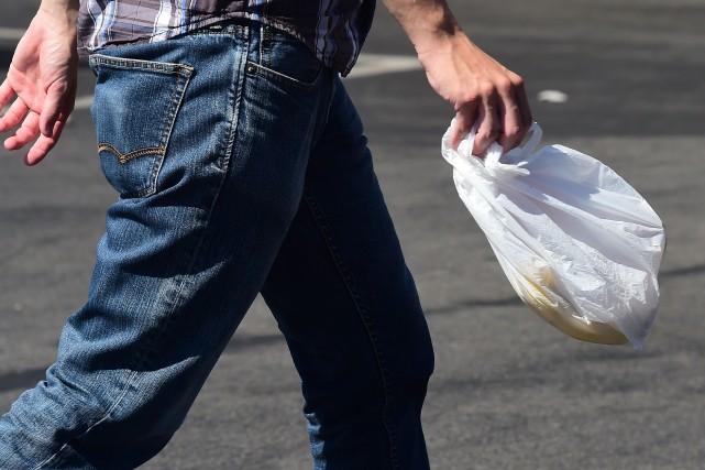L'Assemblée nationale a voté vendredi soir l'interdiction des sacs plastiques à... (Photo FREDERIC J. BROWN, AFP)