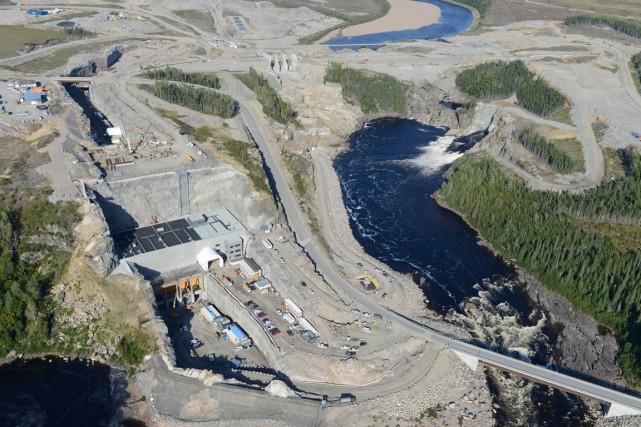 Le site où seront construit la centrale, le... (Photo fournie par Hydro-Québec)