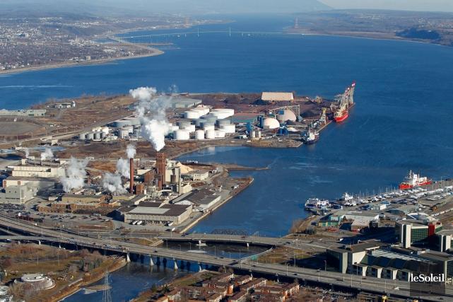 Le projet d'aggrandissement du Port de Québec, un... (Photothèque Le Soleil, Yan Doublet)