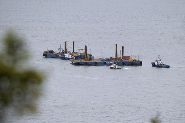 En vertu d'une entente avec TransCanada, deux bateaux... (PHOTO AFP, CLÉMENT SABOURIN)