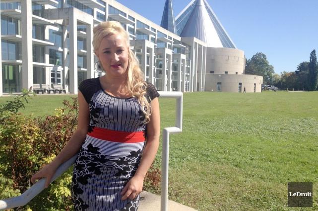 Sophie Wright-Cléroux, 27 ans, s'apprête à livrer une... (Samuel Blais-Gauthier, LeDroit)
