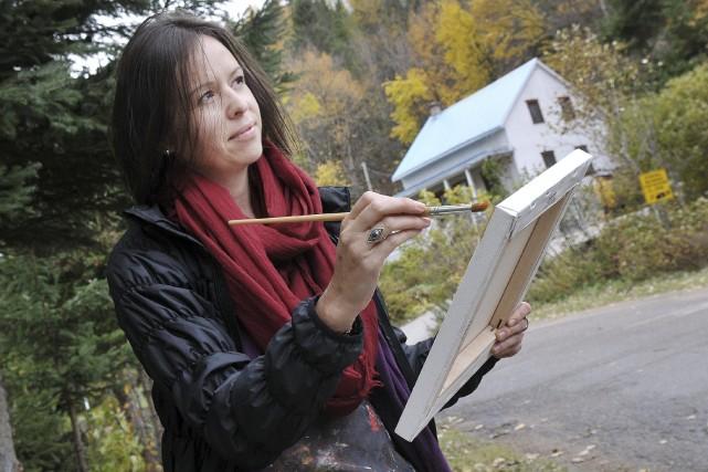 Julï Lesage à Petit-Saguenay, où elle participe pour... ((Photo Rocket Lavoie))