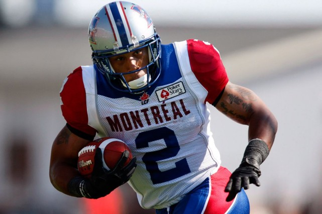 Le demi offensif Brandon Whitaker s'est blessé à... (Photo Jeff McIntosh, archives PC)