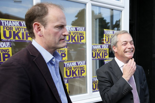Nigel Farage, chef du Parti pour l'indépendance du... (Photo Stefan Wermuth, Reuters)