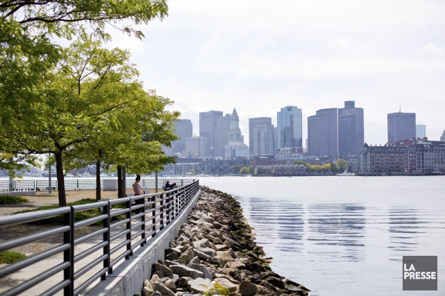 Le skyline de Boston vu de LoPresti Park... (PHOTO SARAH MONGEAU-BIRKETT, LA PRESSE)