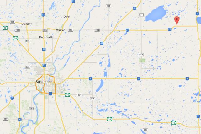 L'explosion a eu lieu dans une petite localité... (Capture d'écran Google Maps)