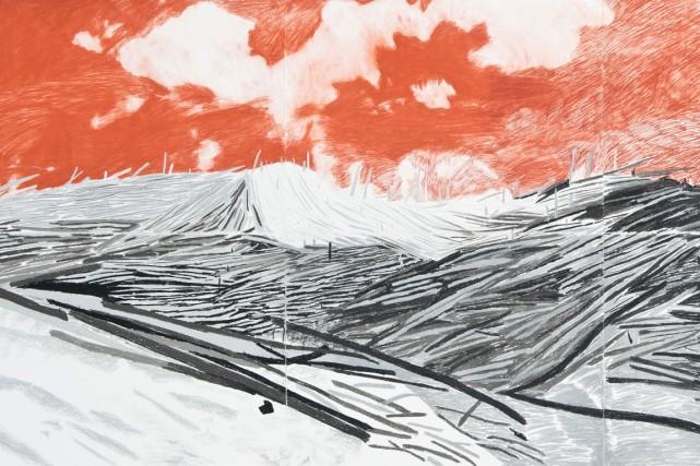 Oeuvre d'Audrée Demers- Roberge Le BLAST I, Sanguine,... (Jean-François Gravel)