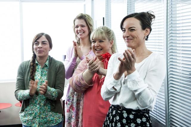 Anne Casabonne, Marie-Hélène Gendreau, Sonia Vachon et Pascale... (Photo fournie par TVA)