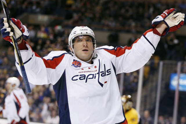 Alex Ovechkin a inscrit deux buts durant la... (Photo Michael Dwyer, AP)