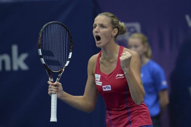 Karolina Pliskova... (Photo Kerstin Joensson, AP)
