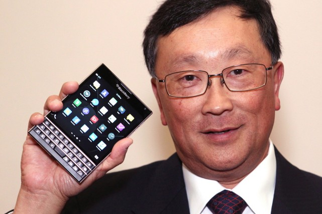 Le PDG deBlackBerryJohn Chen.... (PHOTO DAVE CHIDLEY, ARCHIVES PC)