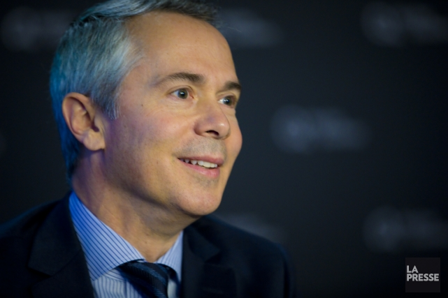 Thierry Vandal, président et directeur général d'Hydro-Québec, visite... (Photo André Pichette, La Presse)