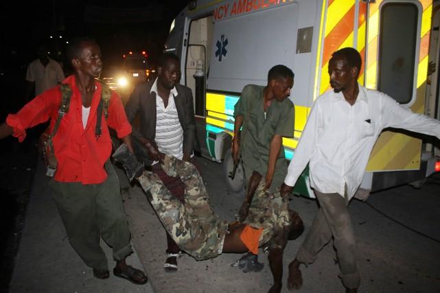 Personne n'a revendiqué l'attaque, mais les soupçons se... (Photo ABDULFITAH HASHI NOR, AFP)