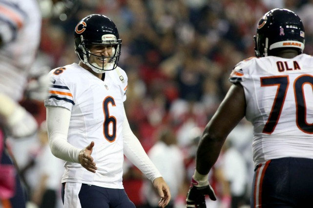 Jay Cutler a récolté 381 verges de gains... (Photo Jason Getz, USA Today Sports)