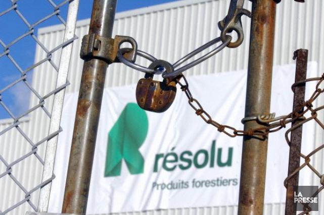 Le 5 décembre dernier, Produits forestiers Résolu a... (PHOTO ARCHIVES LA PRESSE)