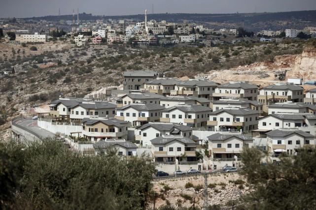 Vue sur lacolonied'Elkana enCisjordanie.... (PHOTO THOMAS COEX, ARCHIVES AFP)