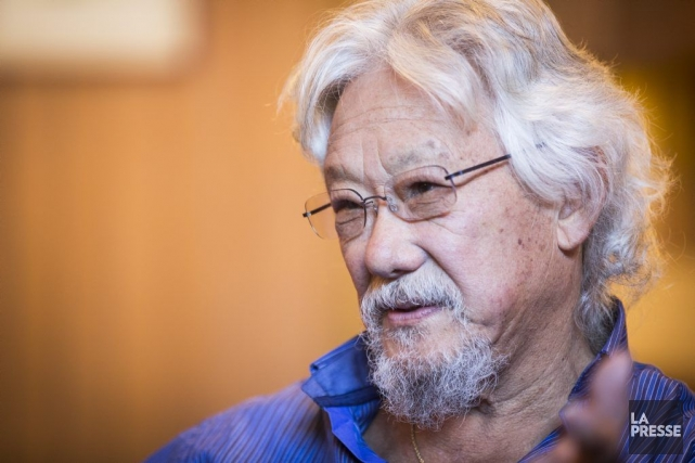 David Suzuki a profité de son passage à... (Photo Olivier Pontbriand, La Presse)