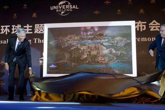 Universal Parks & Resorts et son partenaire chinois,... (PHOTO NG HAN GUA, AP)