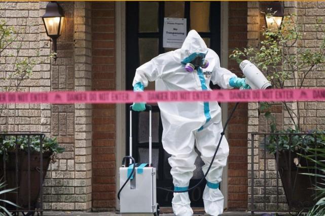 La résidence de la femme du Texas infectée... (PHOTO JAIME R. CARRERO, REUTERS)