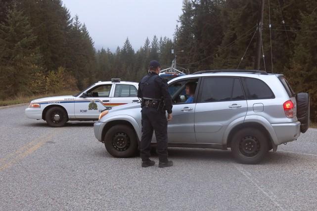 Le suspect recherché depuis plusieurs jours dans les environs de Slocan, en... (Photo Bill Graveland, PC)