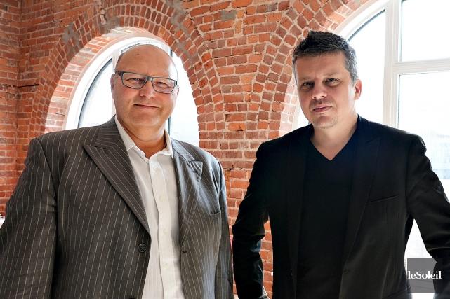 Raynald Saint-Hilaire et Éric Pelletier, de la firme... (Le Soleil, Patrice Laroche)