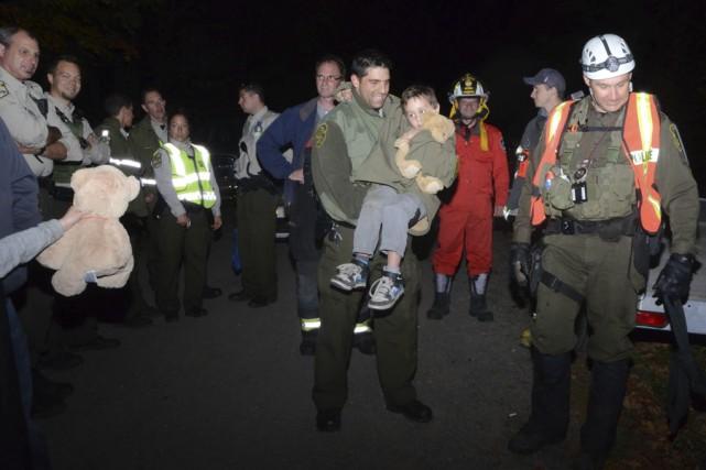 Simon Imbault a été retrouvé vers 18h45, alors... (photo Bruno Beauregard, Collaboration spéciale)