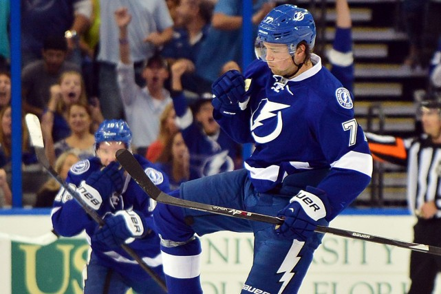Victor Hedman a inscrit 53 points à ses... (Photo Steve Mitchell, USA Today Sports)