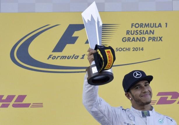 Lewis Hamilton.... (Agence France-Presse)