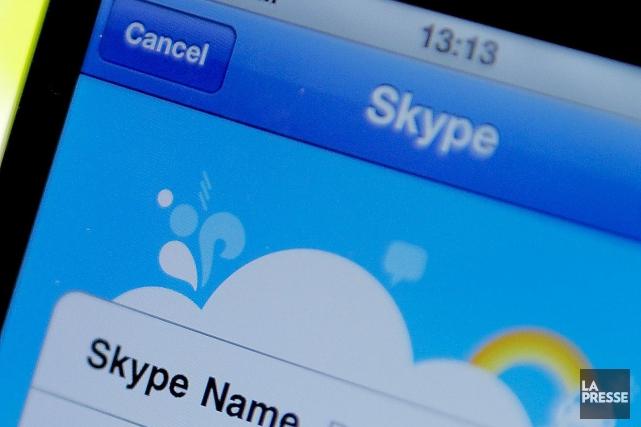 Skype Qik est une application mobile permettant d'envoyer... (Photo Archives AFP)