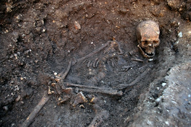 Les restes de Richard III, le dernier roi... (Photo University of Leicester, Archives AFP)