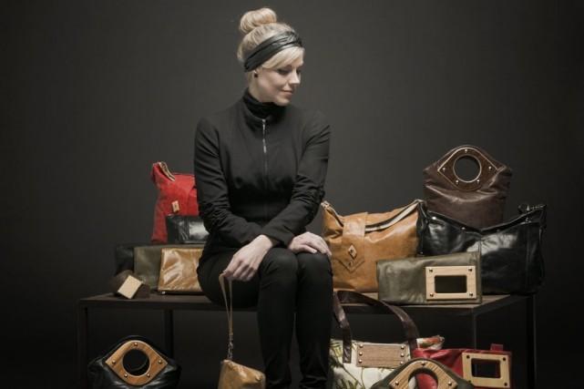 Diplômée en ébénisterie, Violaine Tétreault souhaitait fabriquer du mobilier de... (Photo fournie)