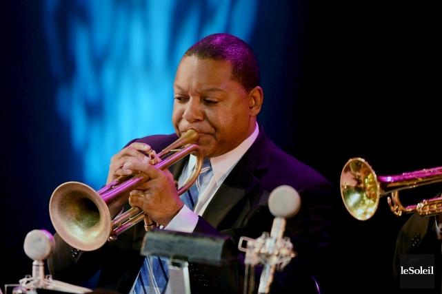 Le trompettiste Wynton Marsalis a ouvert le huitième... (Le Soleil, Erick Labbé)