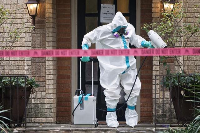 L'infirmière américaine infectée par le virus Ebola a reçu lundi une... (PHOTO JAIME R. CARRERO, REUTERS)