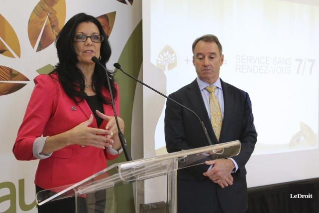 La présidente de la Coop santé Gatineau, Lucie... (Patrick Woodbury, LeDroit)
