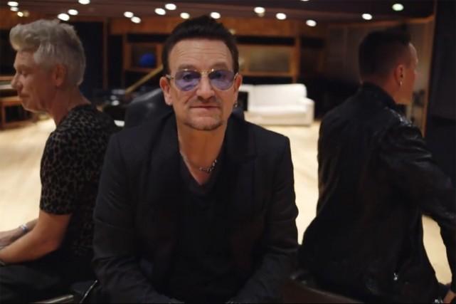 Les légendes du rock Bono et U2 ont présenté mardi leurs excuses pour la mise... (Photo: capture de Facebook)