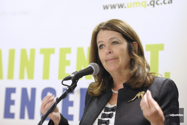 La présidente de l'UMQ, Suzanne Roy, de passage... (PHOTO GIMMY DESBIENS, ARCHIVES LE QUOTIDIEN)