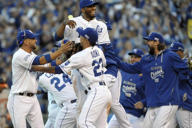 Les Royals de Kansas City sont les monarques de la Ligue américaine pour la... (Photo: Reuters)