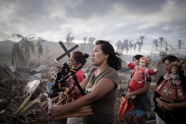Le typhonHaiyan, qui a frappé la province de... (Archives AFP)