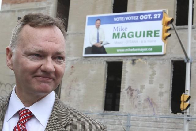 Le candidat à la mairie d'Ottawa, Mike Maguire... (Patrick Woodbury)