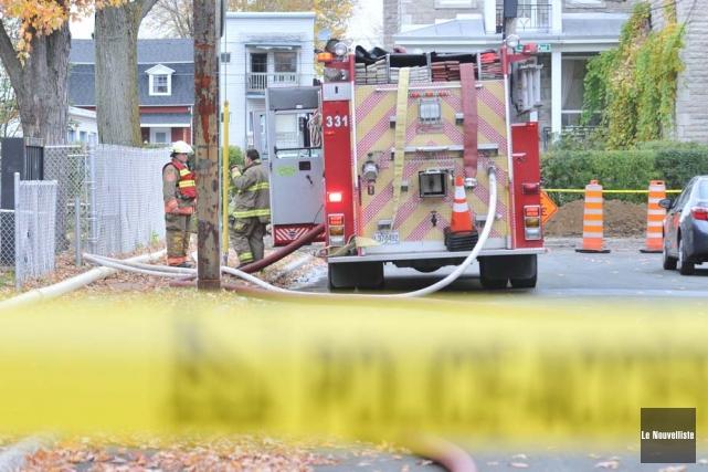 Six logements du quartier Sainte-Cécile à Trois-Rivières ont été évacués de... (Photo: Émilie O'Connor, Le Nouvelliste)