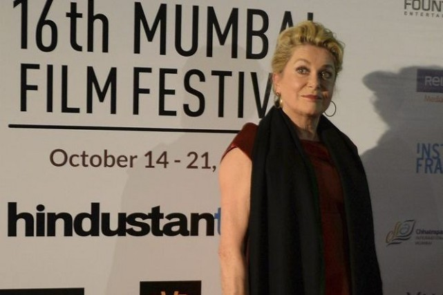 Catherine Deneuve à Bombay.... (Photo: AFP)