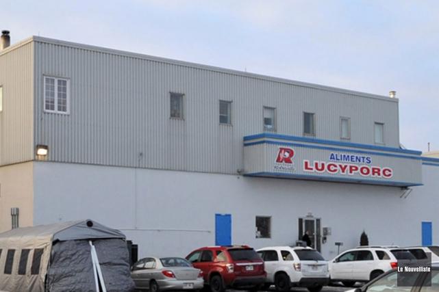 La production a repris à l'usine Lucyporc, au... (Photo: Stéphane Lessard, Le Nouvelliste)