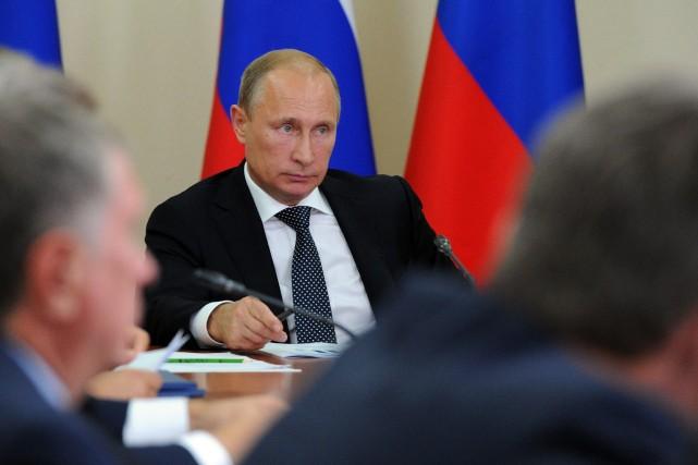 Le président russe Vladimir Poutine a prévenu quede... (Photo Michael Klimentyev, Archives AP)