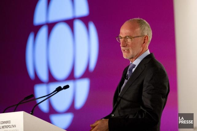 Hubert T. Lacroix, président-directeur général de CBC/Radio-Canada... (PHOTO ALAIN ROBERGE, ARCHIVES LA PRESSE)