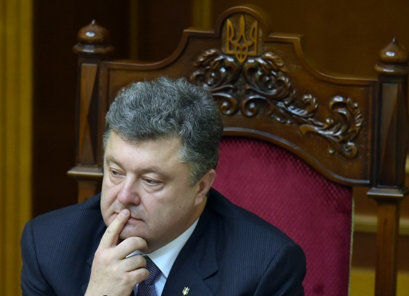 Le président de l'Ukraine, Petro Porochenko, semble avoir... (Photo SERGEI SUPINSKY, archives Agence France-Presse)