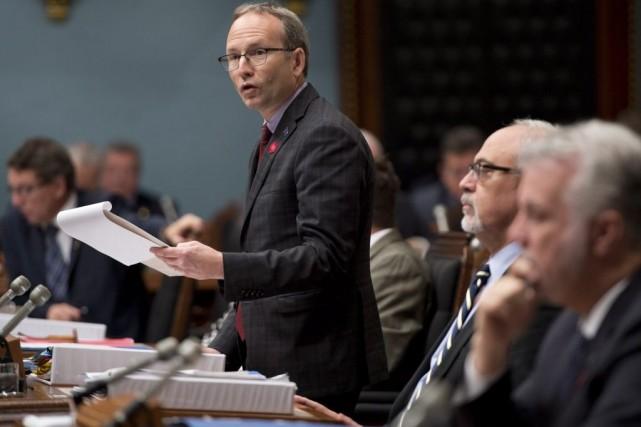 Martin Coiteux n'a pas abordé le problème de... (PHOTO JACQUES BOISSINOT, LA PRESSE CANADIENNE)
