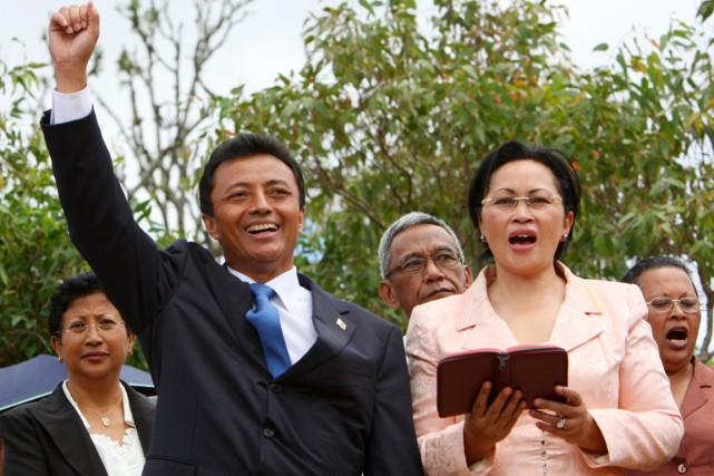 Lalao Ravalomanana, alors qu'elle était la première dame... (PHOTO ALEXANDER JOE, ARCHIVES AFP)