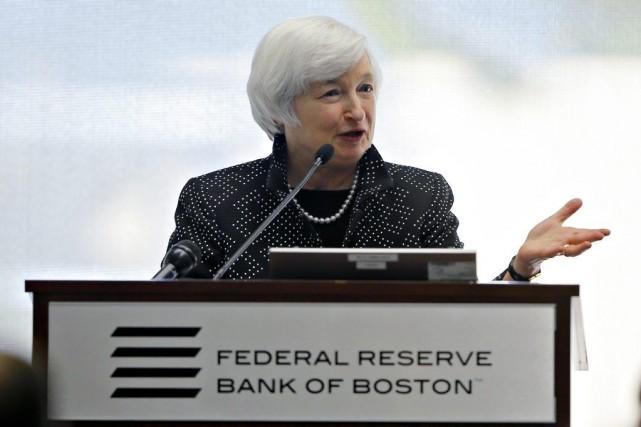 La présidente de la banque centrale américaine (Fed),... (PHOTO BRIAN SNYDER, REUTERS)