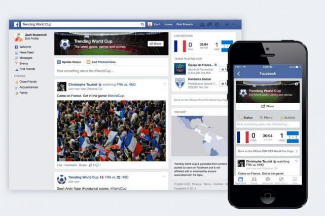 L'amélioration de l'application mobile de Facebook aurait fait... (Photo Archives AP)